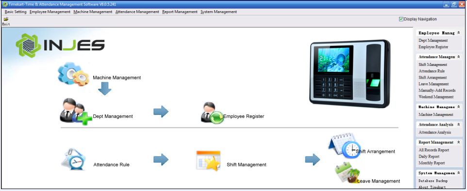 employee time attendance software free download