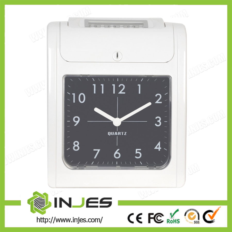 Auto Print Time Recorder Clock Paper Card Attendance Machine TRK12